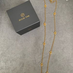 Jewelry - Julie Vos gold Florentine station necklace